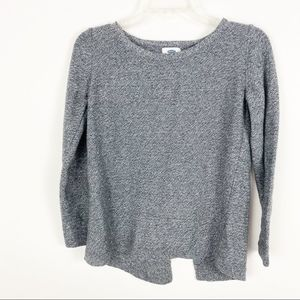 Old Navy heathered gray open back sweater